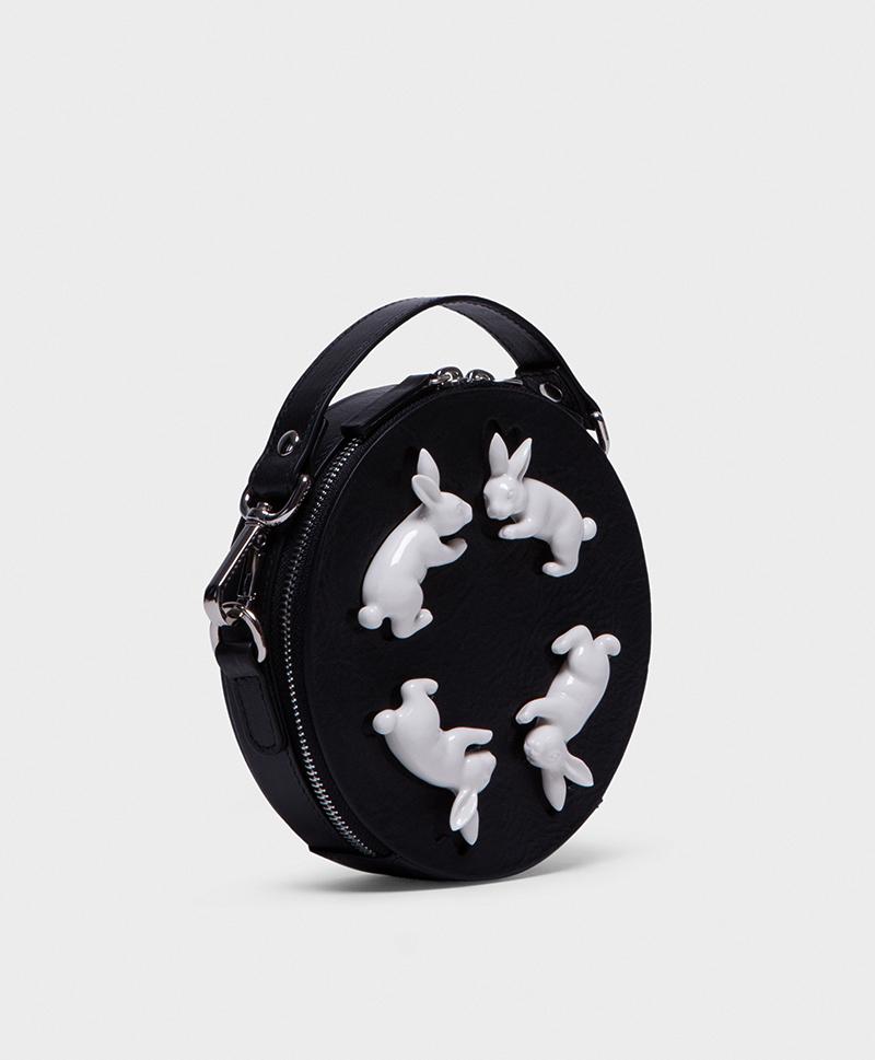 Сумка из кожи Round Rabbits Mini Black