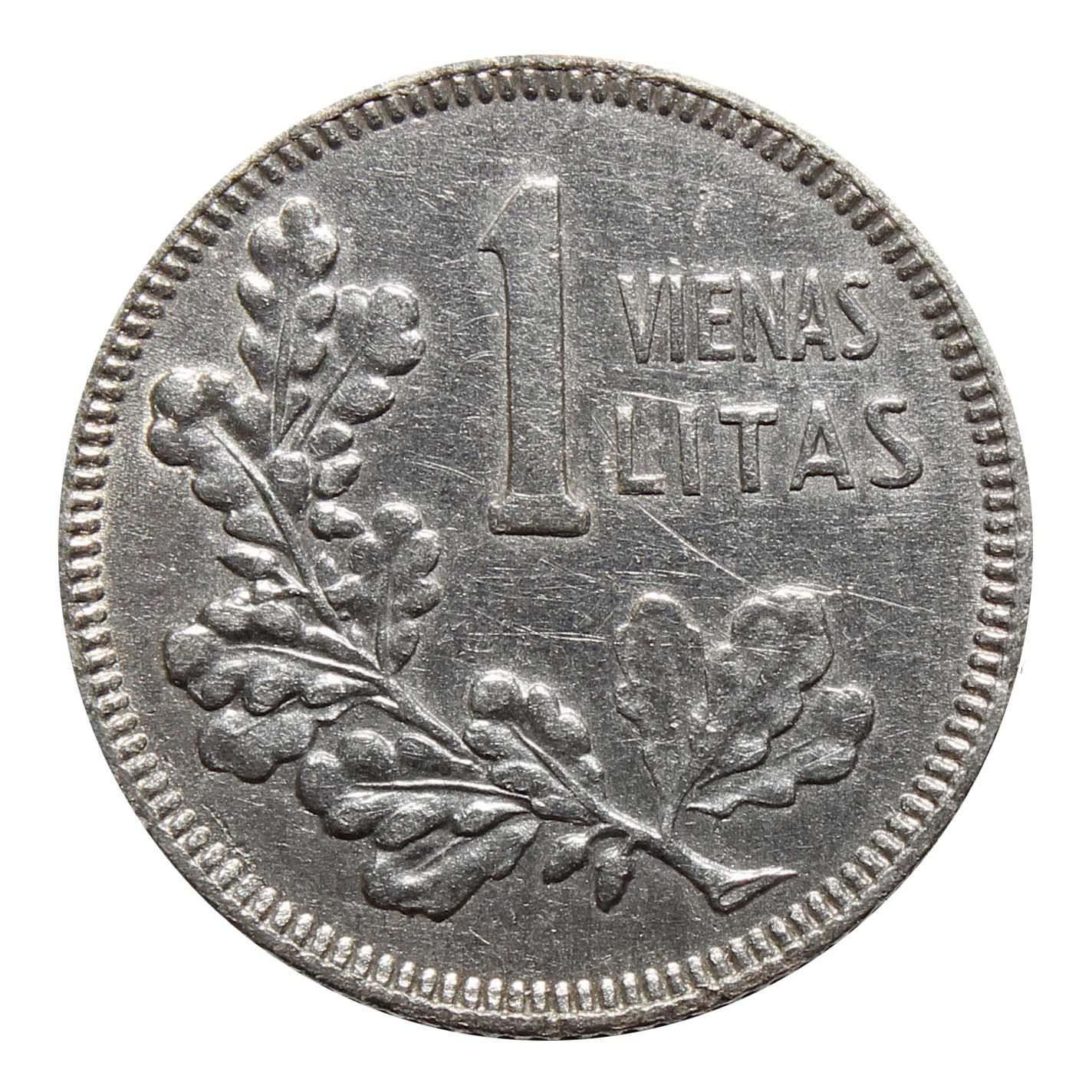 1 лит. Литва. 1925 год. Серебро. VF-