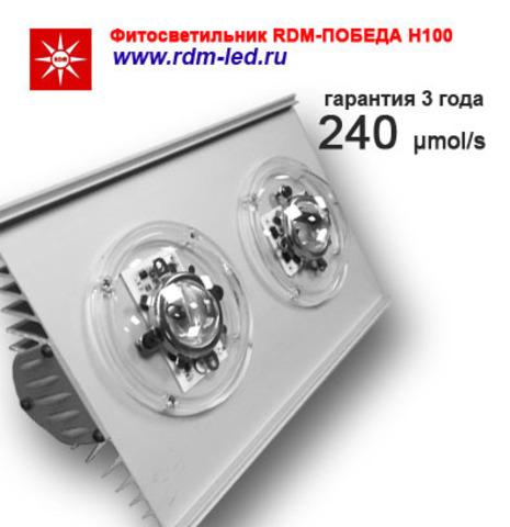 Партия 5 штук / Фитооблучатель RDM-ПОБЕДА Н100 ГИБРИД