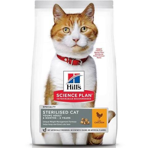 Корм для кошек Hill's Science Plan Feline Sterilised Cat Young Adult Chicken 10 кг с курицей