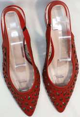 Женские туфли летние открытые G.U.E.R.O G067-TN Red.