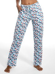 Пижамные брюки свободного кроя в принт 690-19-16