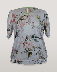 Блузка Laura Canorra 2161 цветы к/р