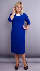 Вівіан. Оригінальна сукня великих розмірів. Електрик.