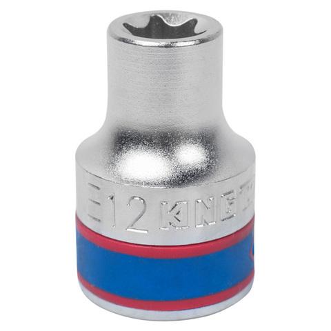 """Головка торцевая TORX Е-стандарт 1/2"""", E12 KING TONY 437512M"""