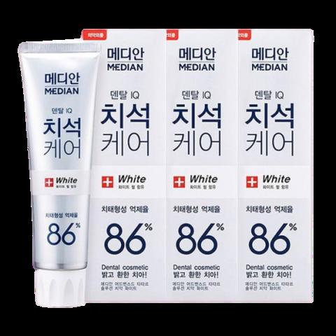 Median dental IQ 93% White Отбеливающая зубная паста 120гр*3шт