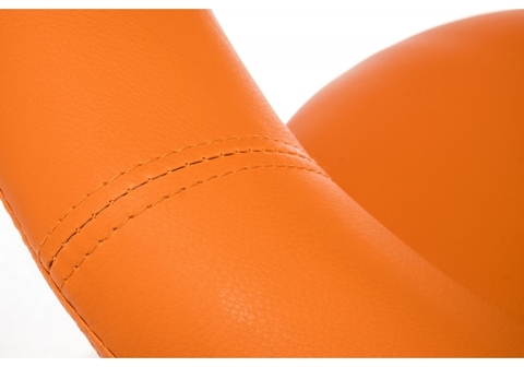 Барный стул Oazis оранжевый 51*51*80 Оранжевый кожзам /Хромированный металл каркас