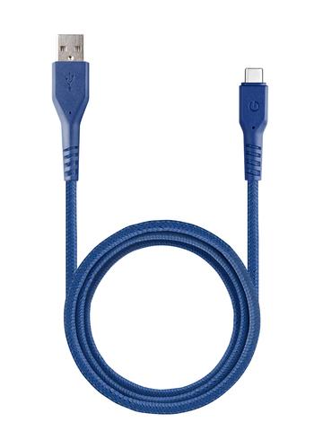 Кабель EnergEA FibraTough | Type-C USB-A 480Mbps 5A синий 1.5м