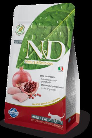 Сухой беззерновой корм Farmina N&D Grain Free Cat Chicken & Pomegranate Adult