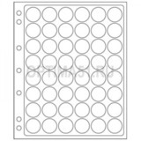 Лист ENCAP для альбомов GRANDE на 48 ячеек для монет D 23,5-26 мм в капсулах