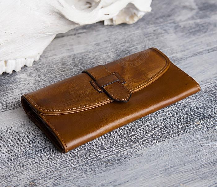 WL296-2 Мужской кошелек клатч из натуральной кожи фото 05