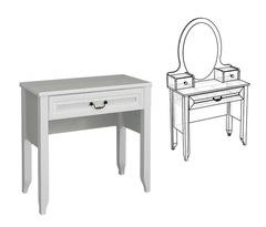 Столик туалетный без надстройки Классика