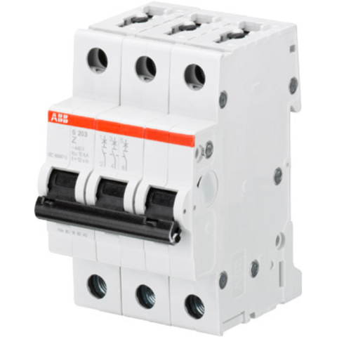 Автоматический выключатель 3-полюсный 10 А, тип Z, 10 кА S203M Z10. ABB. 2CDS273001R0428