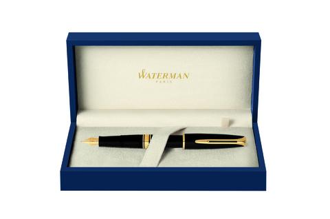 *Перьевая ручка Waterman Charleston, цвет: Black/GT, перо: F (13001 F)123