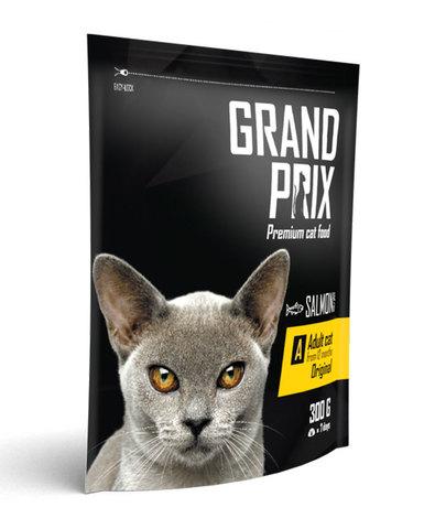 Grand Prix Adult Original сухой корм для кошек с лососем 0,3 кг