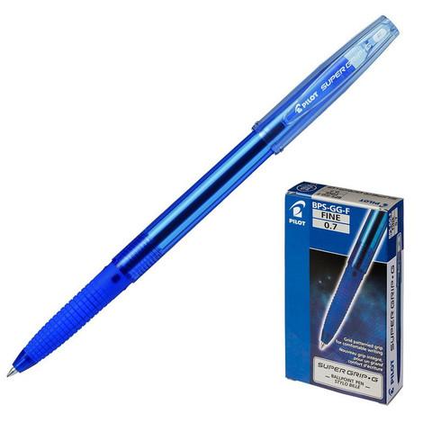 Ручка шариковая Pilot Super Grip BPS-GG-F-L синяя (толщина линии 0.22 мм)