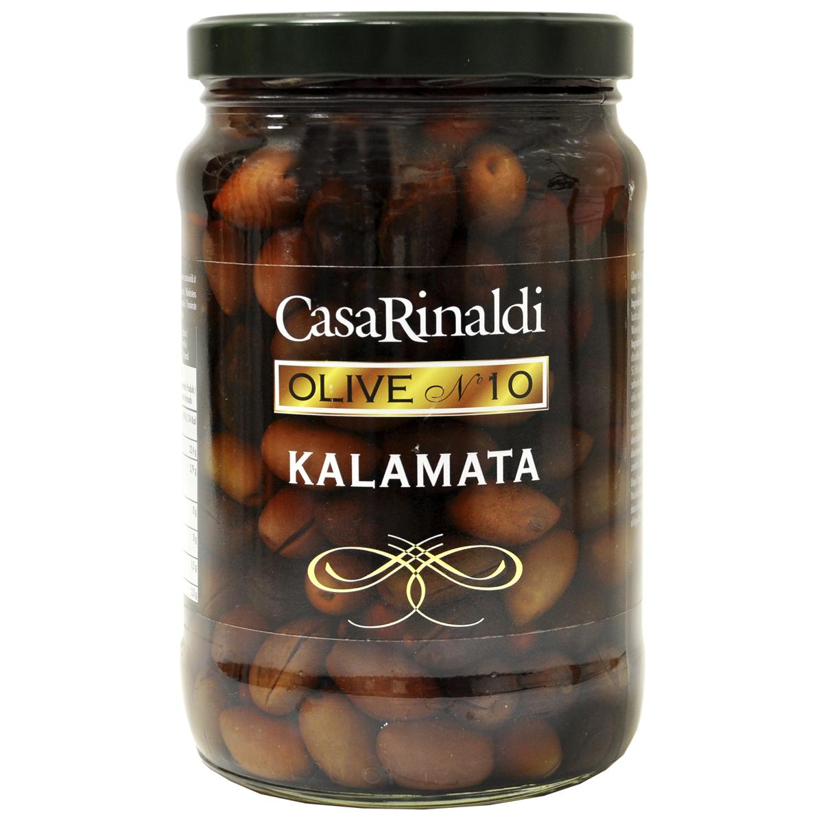Оливки Casa Rinaldi Каламата консервированные с косточкой 1650 г