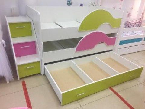 Ящик к двухъярусной выкатной кровати Радуга