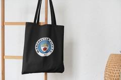 Сумка-шоппер с принтом FC Manchester City (ФК Манчестер Сити) черная 003