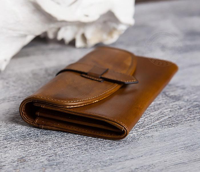 WL296-2 Мужской кошелек клатч из натуральной кожи фото 06