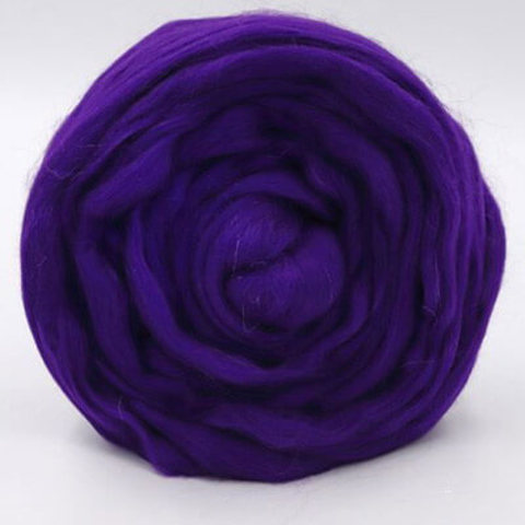 Шерсть для валяния Полутонкая (Троицкая) 37 темно-фиолетовый