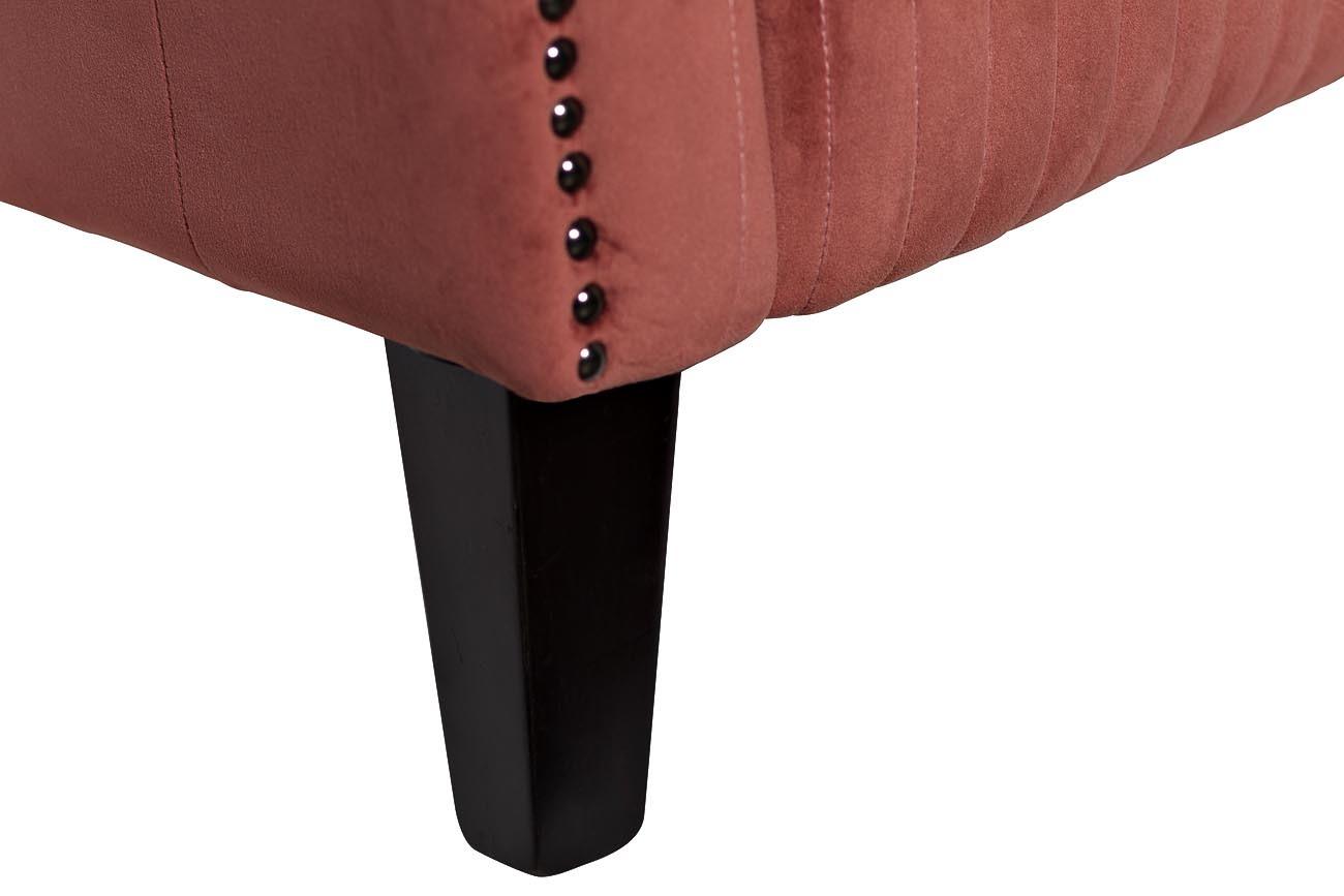 Кресло низкое велюровое темно-розовое (PJS30801-PJ626) Garda Decor