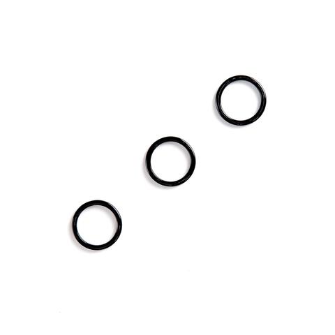 Кольцо для бретели черное 12мм (металл)