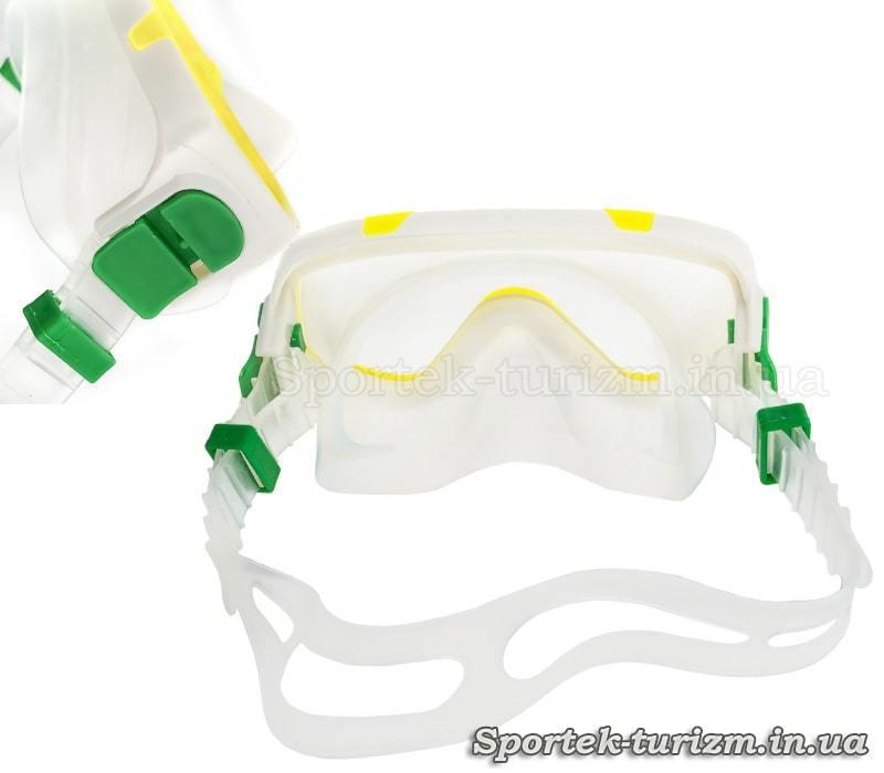 Вид зсередини на маску дитячого комплекту для підводного плавання Fashy Junior Snorkel Set (8887)