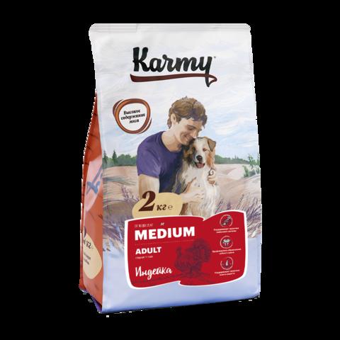 Karmy Medium Adult Сухой корм для собак средних пород с индейкой