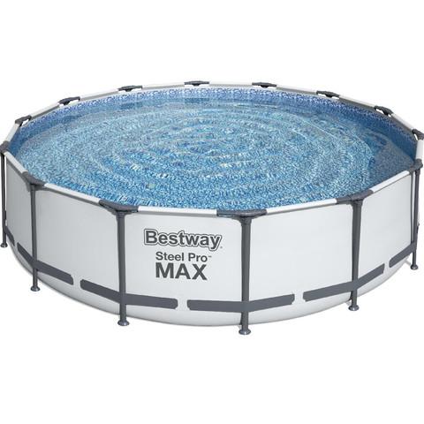 Каркасный круглый бассейн Bestway 56462 (549х122) с картриджным фильтром, лестницей и защитным тентом / 16586
