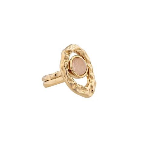 Кольцо двойное Quartz Rose 16.5 мм K7158.9/16.5 R/G