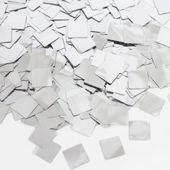 Конфетти фольга Квадрат, Серебро, Металлик, 1 см, 50 г, 1 уп.