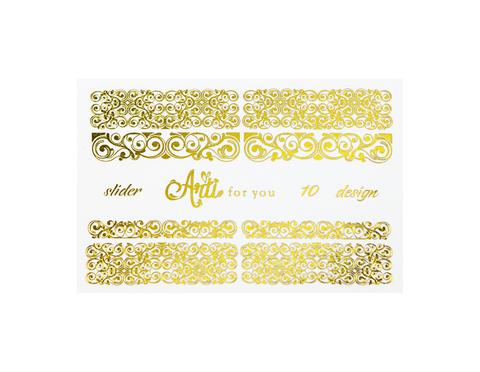 Фольга для дизайна ногтей цвет золото 10 купить за 120руб