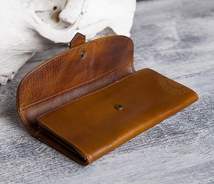 WL296-2 Мужской кошелек клатч из натуральной кожи фото 07