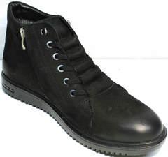 Ботинки без шнурков зимние мужские Luciano Bellini 71783 Black.