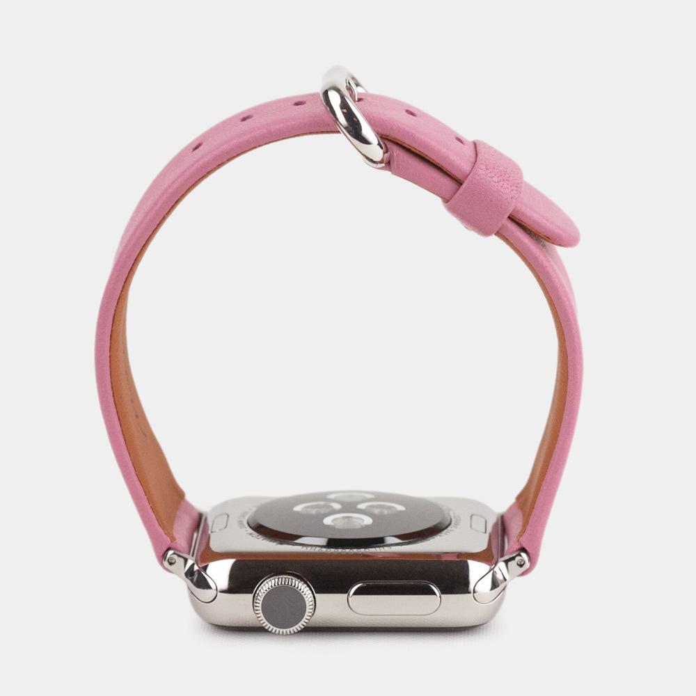 Ремешок для Apple Watch 42/44мм ST Classic из натуральной кожи теленка, розового цвета