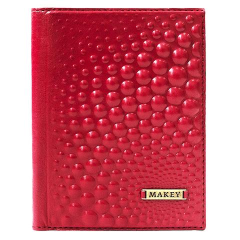 Обложка для автодокументов «Bubblies». Цвет красный