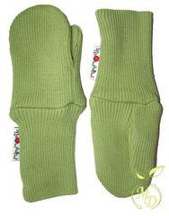 Варежки двухслойные ManyMonths, Зелёный (шерсть мериноса 100%)