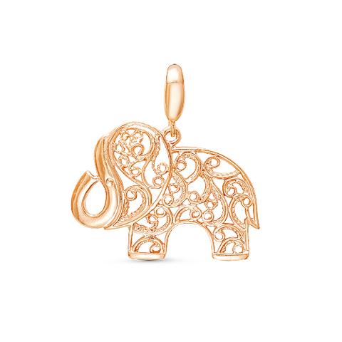 """Подвеска """"Слон"""" с позолотой"""