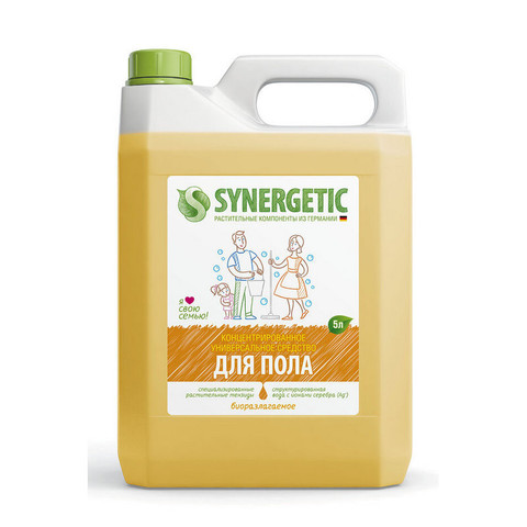 Средство для мытья пола Synergetic 5л