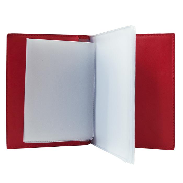 Обложка для автодокументов   Bubblies   Красный