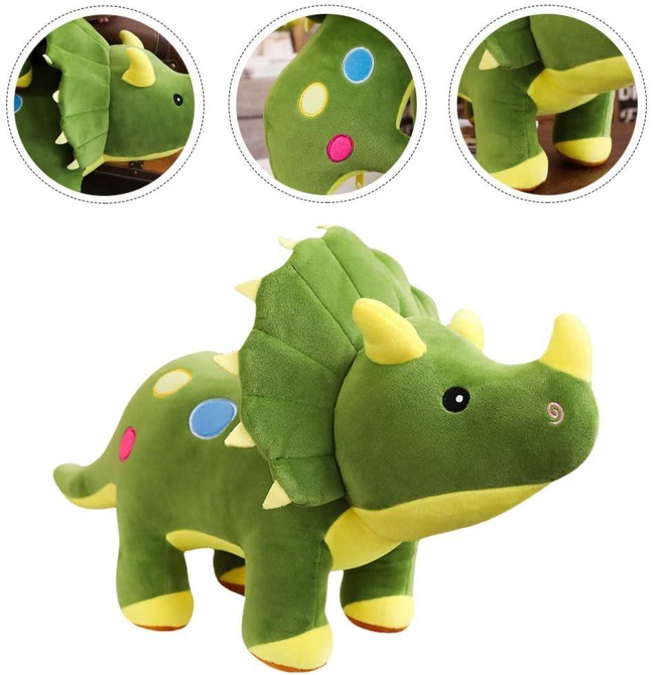 Динозавр мягкая игрушка Трицератопс