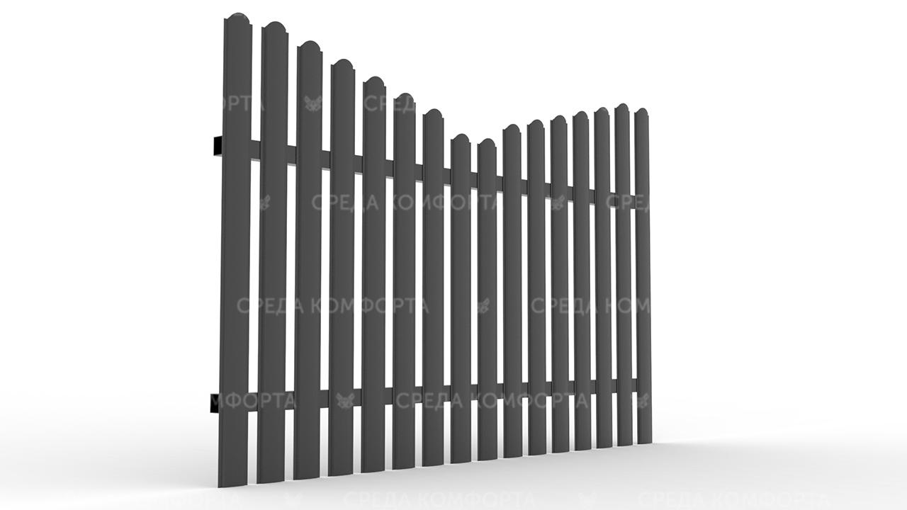 Забор из евроштакетника ZBR0062