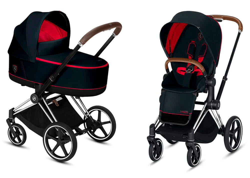 Цвета Cybex Priam 2 в 1 Детская коляска Cybex Priam III 2 в 1 FE Ferrari Victory Black шасси Chrome cybex-priam-iii-2-in-1-fe-ferrari-victory-black-chrome.jpg