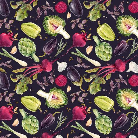 Овощной набор (темный фон)