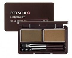 Пудра для бровей The Saem Eco Soul Eyebrow Kit 01 Brown 5 гр