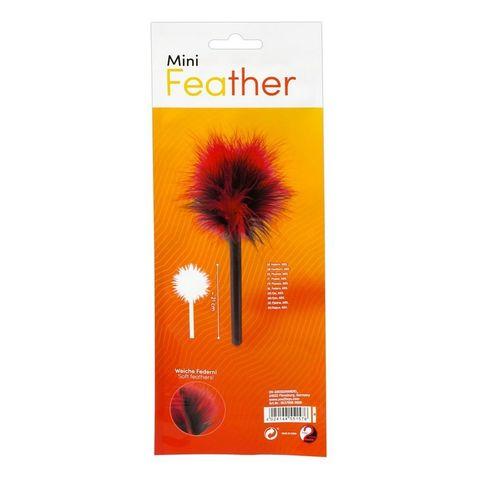 Красно-черная пуховка Mini Feather - 21 см.