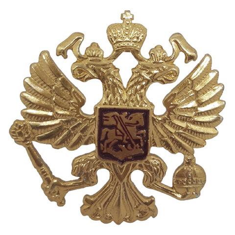 Эмблема на тулью Орел РФ металл.