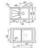 Мойка кухонная TEKA Cara 45 B-TG - схема