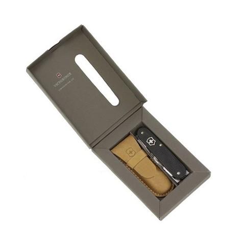 Нож Victorinox Cadet, 84 мм, 8 функций, алюминиевая рукоять, черный